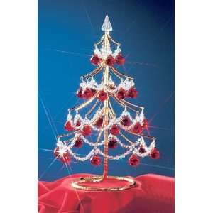 Classic Lighting Mini Crystal Christmas Tree With Red Cut