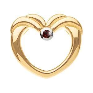 14K White Gold Pendant with Deep Red Diamond 0.1+ carat Brilliant cut