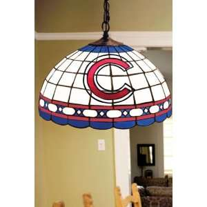 Team Logo Hanging Lamp 16hx16l Chicago Cubs Home Improvement
