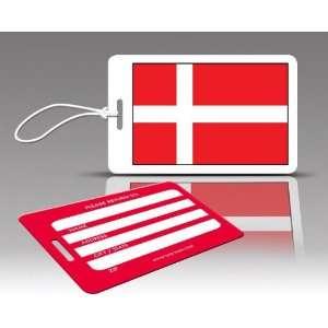 Insight Design 770540 TagCrazy Luggage Tags  Denmark Flag  Set of