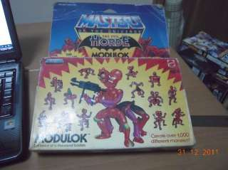 Masters of the Universe MOTU Modulok Unpunched & Mint In Sealed Box