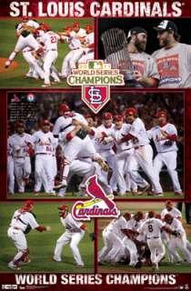 St. Louis Cardinals 2011 World Series CELEBRATION Commemorative Poster