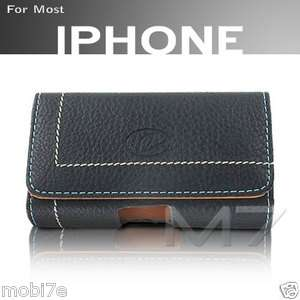 NAPA LEATHER POUCH CASE for IPHONES AND IPOD TOUCH COVER w/ BELT CLIP