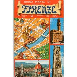 Nuova Pianta di Firenze (New Map of Florence, Italy) Litografia