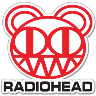 Radiohead Bear car bumper sticker 4 x 5