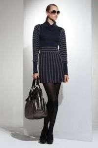 /GREY STRIPE WOOL/CASHMERE SWEATER DRESS 2XS NWT $238 Box2/18