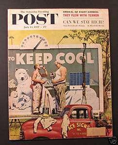 1957 SATURDAY EVENING POST Magazine   July 13