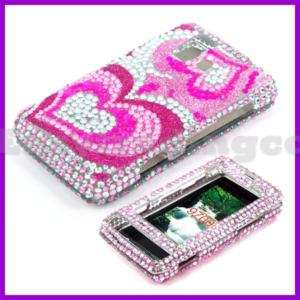 Crystal Bling Case Cover for LG VX9700 Dare Pink Heart