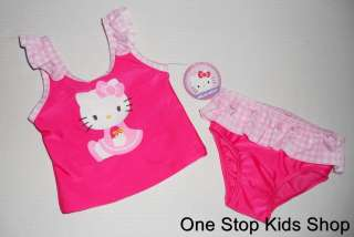 HELLO KITTY Girls 2T 3T 4T Swimsuit BIKINI Bathing Suit