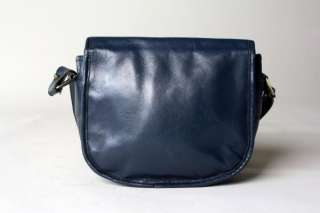 Vintage 70s/80s Aigner Navy Saddle Bag Purse Crossbody