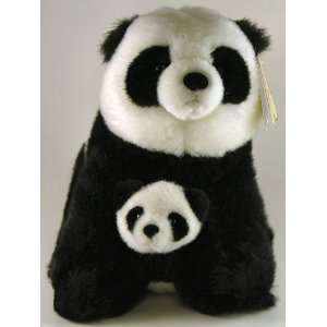 Aurora Panda Bear Fancy Pals Stuffed Pet Mom & Baby NEW