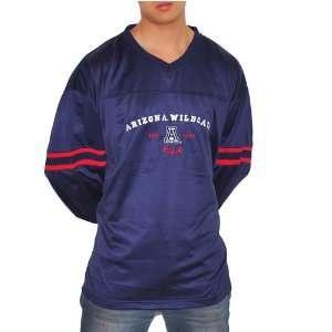 Arizona Wildcats University long sleeve blue jersey top. Very high