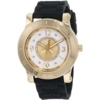 Juicy Couture Womens 1900833 HRH Black Jelly Strap Watch   designer
