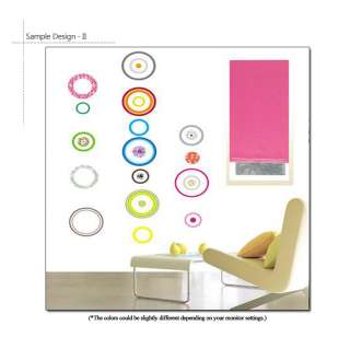 COLORFUL CIRCLES Home Art Wall Decor DIY Sticker Paper