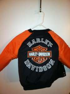HARLEY DAVIDSON Boys REVERSIBLE Warm Jacket 2 in 1 Sz 6