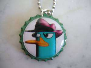 PHINEAS AND FERB PERRY THE PLATYPUS BOTTLECAP NECKLACE