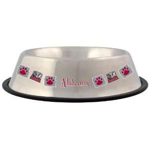 by the NCAA   Alabama Crimson Tide 32 oz Stainless Steel Pet Bowl
