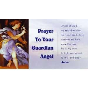 Guardian Angel Holy Prayer Card