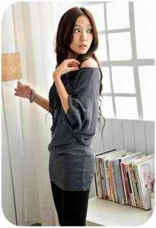 Womens Fashion Korea Off Shoulder Tops Shirts HOT 1984