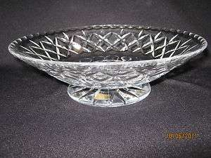 Vintage Webb Co England Large Footed Cut Crystal Bowl