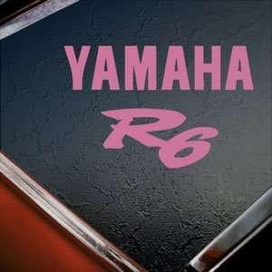 Yamaha R6 Pink Decal Truck Bumper Window Vinyl Pink