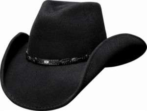 Bullhide Wild Horse Wool Felt Cowboy Hat   Black