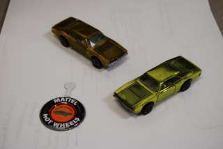 Two 1968 Custom Dodge Charger Hot Wheels Redline or Red Line