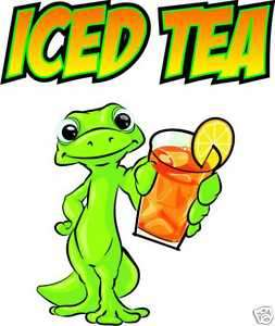 Iced Tea Drink Concession Restaurant Food Decal 14