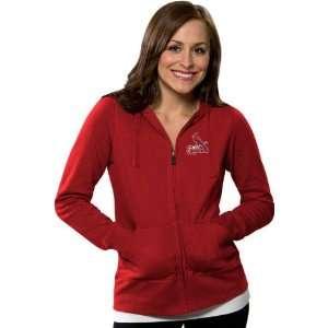 St. Louis Cardinals Womens Dark Red Signature Full Zip