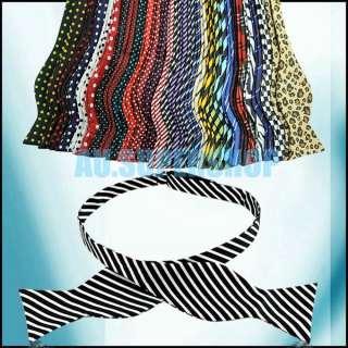 New Fashion Adjustable Mens Multi Color Silk Self Bow Tie Necktie