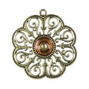 Cousin Jewelry Basics Metal Pendant 1/Pkg Gold Swirl