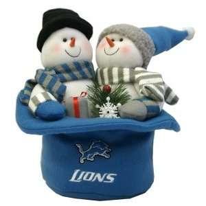 Detroit Lions Snowmen Top Hat