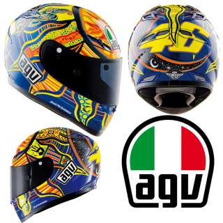 AGV GP TECH ROSSI 5 CONTINENTS MOTORCYCLE HELMET NEW