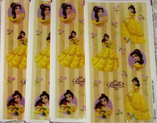 PRINCESS BELLE STICKERS ~ Birthday Party Supplies 726528146616