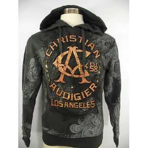 CHRISTIAN AUDIGIER ED HARDY MENS STARS AND SWIRLS STUDDED PULLOVER