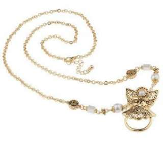Angel ID or Eyeglass Holder Gold Plated Pearl Necklace