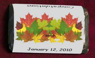 FALL AUTUMN Leaf Wedding Miniatures Candy Wrappers Personalized Party