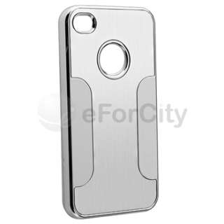 Luxury Steel Aluminum Chrome Deluxe Hard Case Cover For iPhone 4 4S 4G