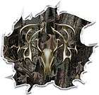 Oak camo tribal deer head hunting ripped vinyl graphic decal