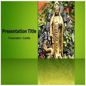 Buddha Temple PowerPoint Template   Buddha Temple PowerPoint (PPT