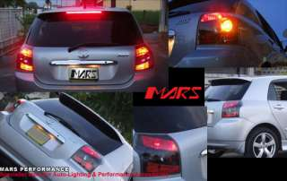 Black Altezza Tail Lights for Toyota Corolla & Runx 01 07 Hatch
