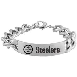 NFL Pittsburgh Steelers Stainless Steel Sports Link ID