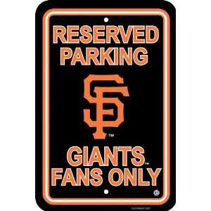 MLB San Francisco Giants Parking Sign
