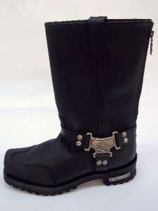 Milwaukee Motorcycle Clothing Co Mens Black Boot Drag Harness Size 9