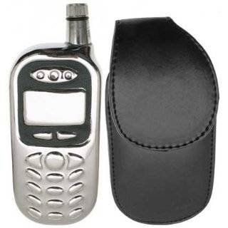 Cell Phone Style Liquor Flask with Leather Case, Funnel, and Gift Box