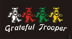 STAR WARS T  shirt Grateful Dead bear troopers