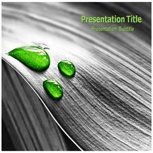Green Drop Powerpoint Templates   Green Drop Background