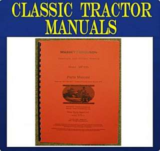 Massey Ferguson MF 626 Garden Tractor Parts Manual MF 626
