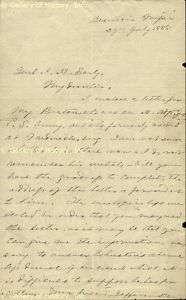 JEFFERSON DAVIS   AUTOGRAPH LETTER SIGNED 07/29/1885