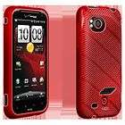 HTC Rezound High Gloss Red Silicone Cover Case OEM Verizon Wireless